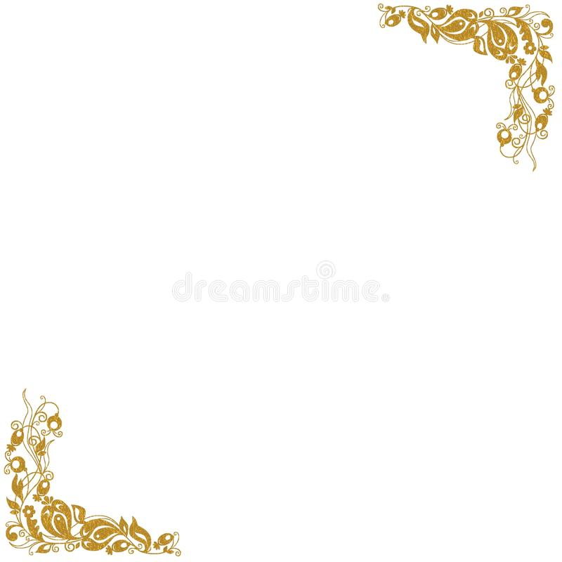 Download Gold decorative corners stock illustration. Illustration of graphic - 22096245