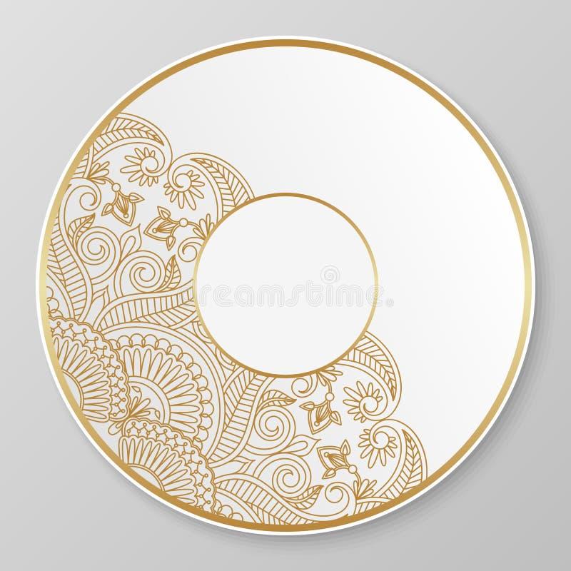 Download Gold decorative plate. stock vector. Illustration of golden - 44026423  sc 1 st  Dreamstime.com & Gold decorative plate. stock vector. Illustration of golden - 44026423