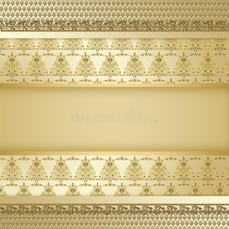 Gold Decorative Tree Background Stock Photography