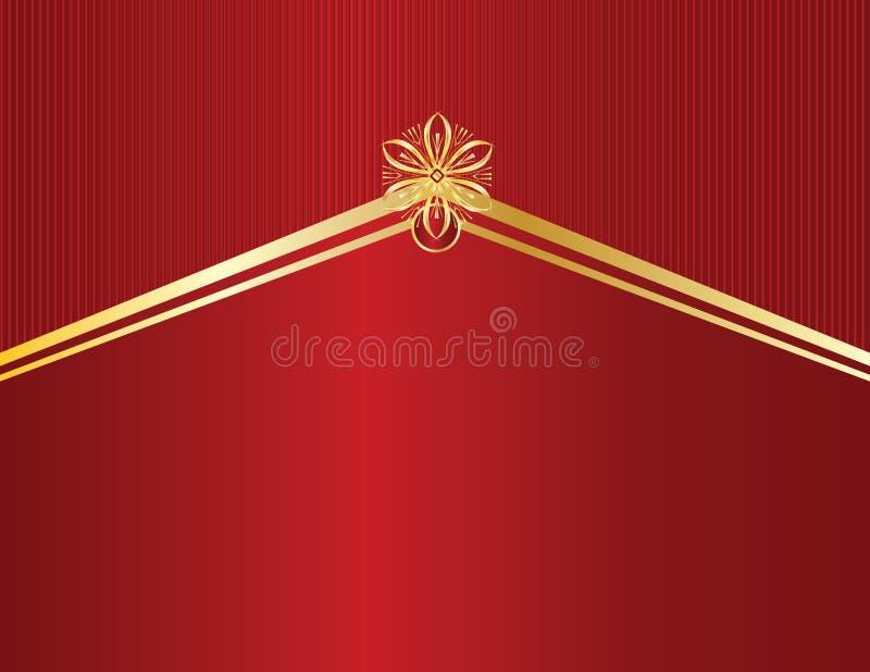 Gold design on red line backgr vector illustration