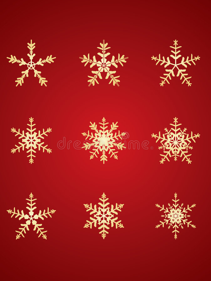 Free Gold Detailed Snowflakes Stock Images - 6693684