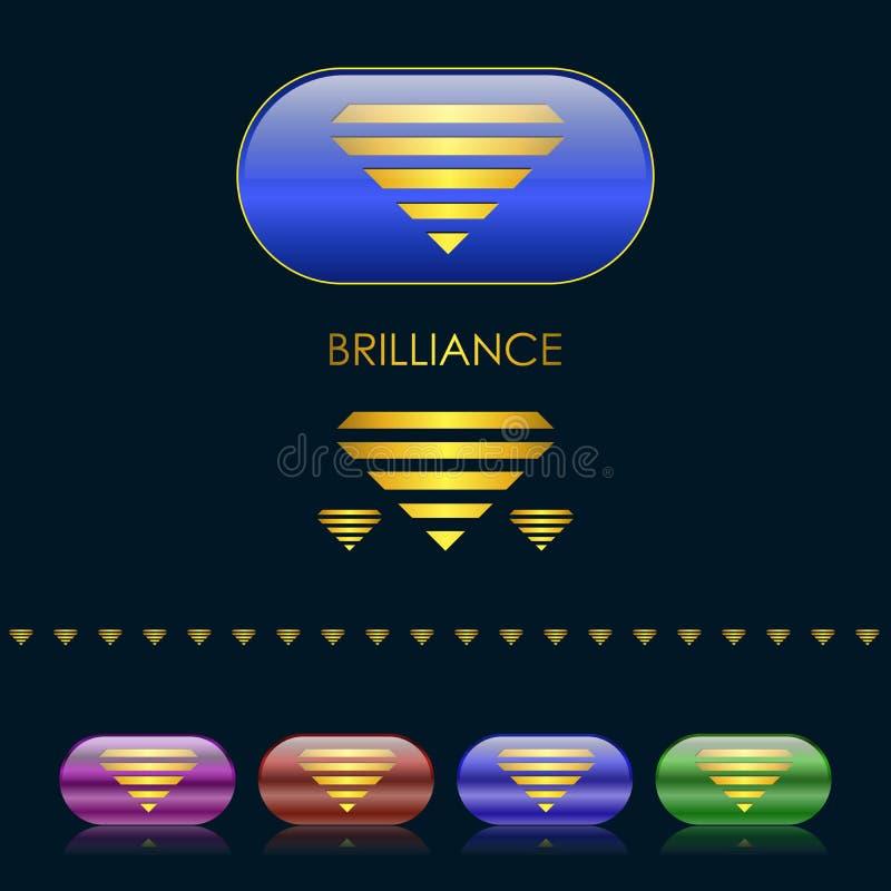 Download Gold diamond emblem stock vector. Illustration of pictogram - 23294590