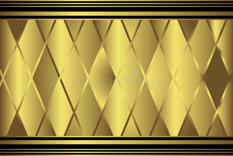 Gold diamond geometric pattern stock illustration