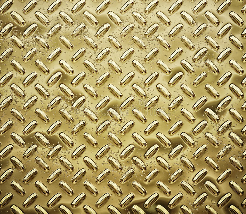 Download Gold diamond plate stock illustration. Image of checkerplate - 23565330