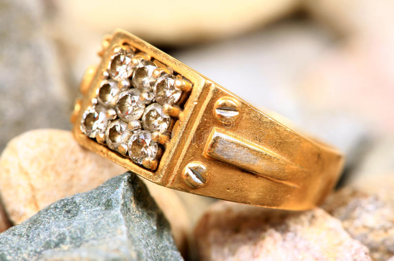 Download Gold diamond ring stock image. Image of golden, closeup - 20596099