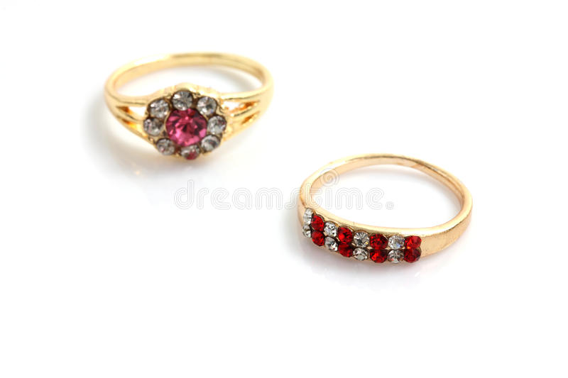 Gold diamond ring royalty free stock images