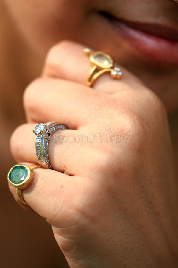 Download Gold and diamond rings stock image. Image of solitaire - 20594649