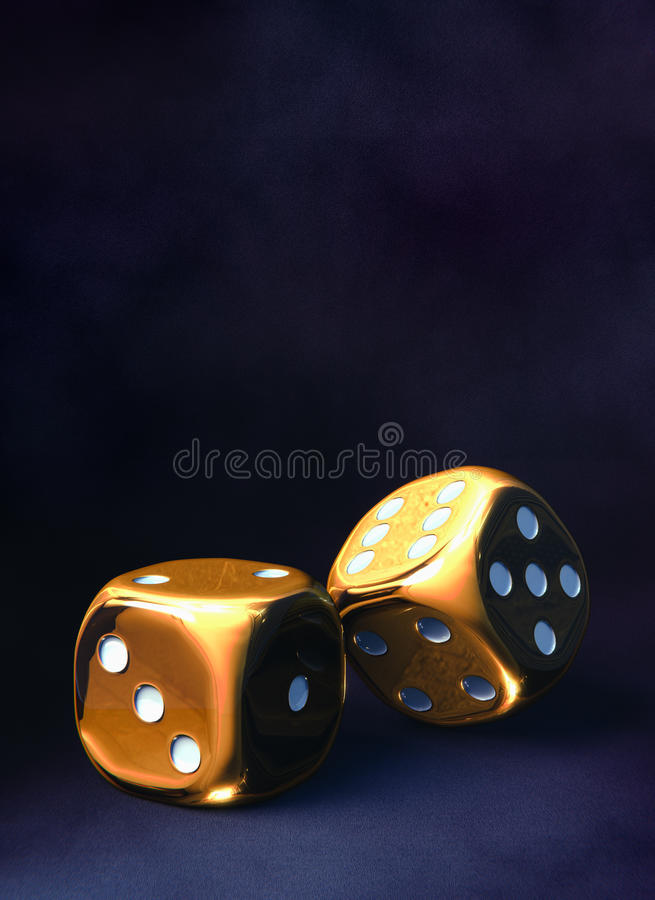 Gold dice royalty free stock image