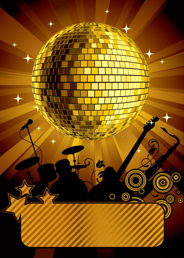 Free Gold Disco Ball Stock Photography - 9604772