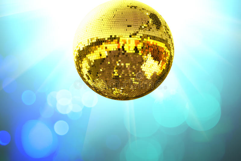 Download Gold disco ball stock photo. Image of colorful, gold, background - 9630314