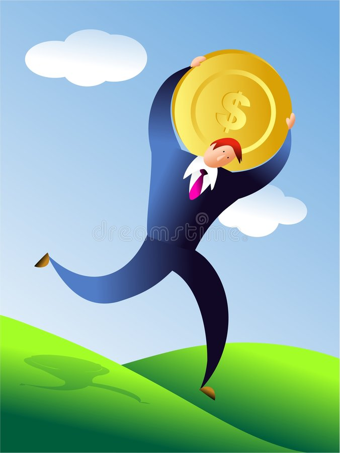 Gold dollar stock illustration
