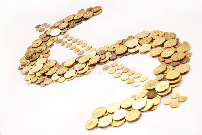 Gold dollar royalty free stock photos