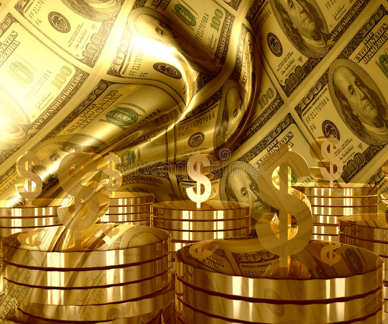 Download Gold And Dollar Money Currency Icon Stock Illustration - Image: 14066133