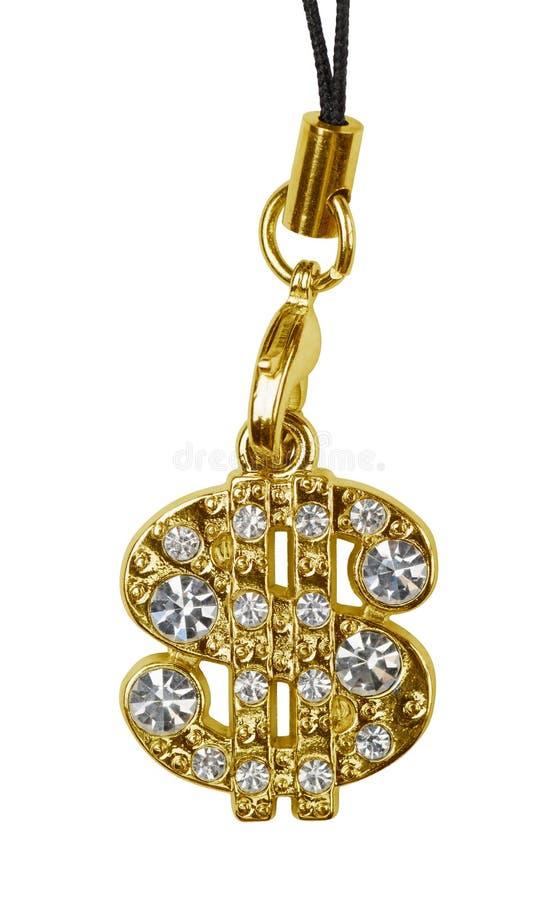 Gold dollar pendant royalty free stock photos