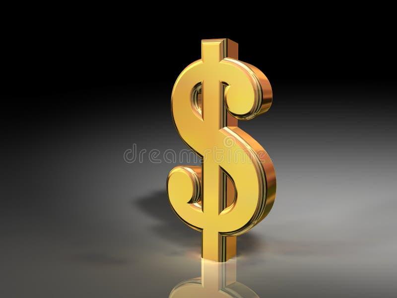 Download Gold dollar sign stock illustration. Image of dimensional - 5906547