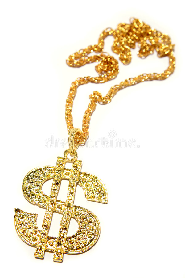 Download Gold Dollar Sign Necklace Royalty Free Stock Photography - Image: 6781907