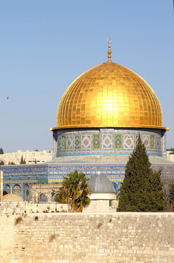 Gold Dome of the rock royalty free stock photo
