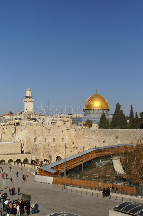 Gold Dome of the rock royalty free stock image