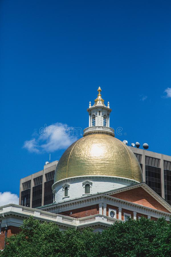 Gold Dome in Boston royalty free stock image