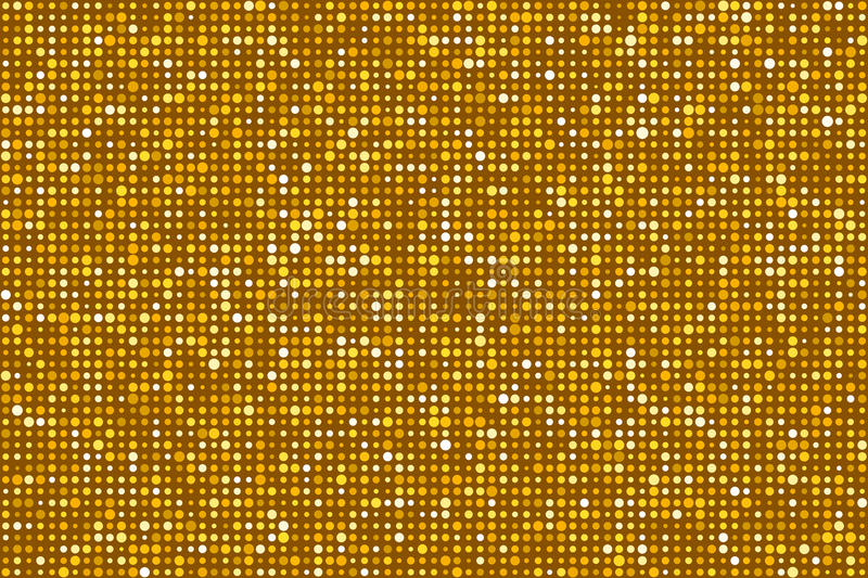 Gold Dots Pattern Seamless Background. EPS8 Vector. Gold Dots Pattern Seamless Background. Colors are randomly assigned. EPS8 Vector without transparency or stock illustration