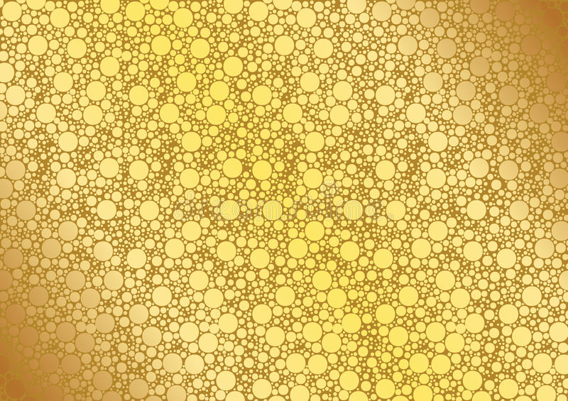 Gold Dotted Background royalty free illustration