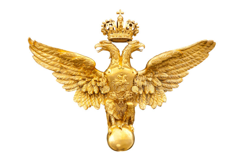 Gold double eagle royalty free stock photography