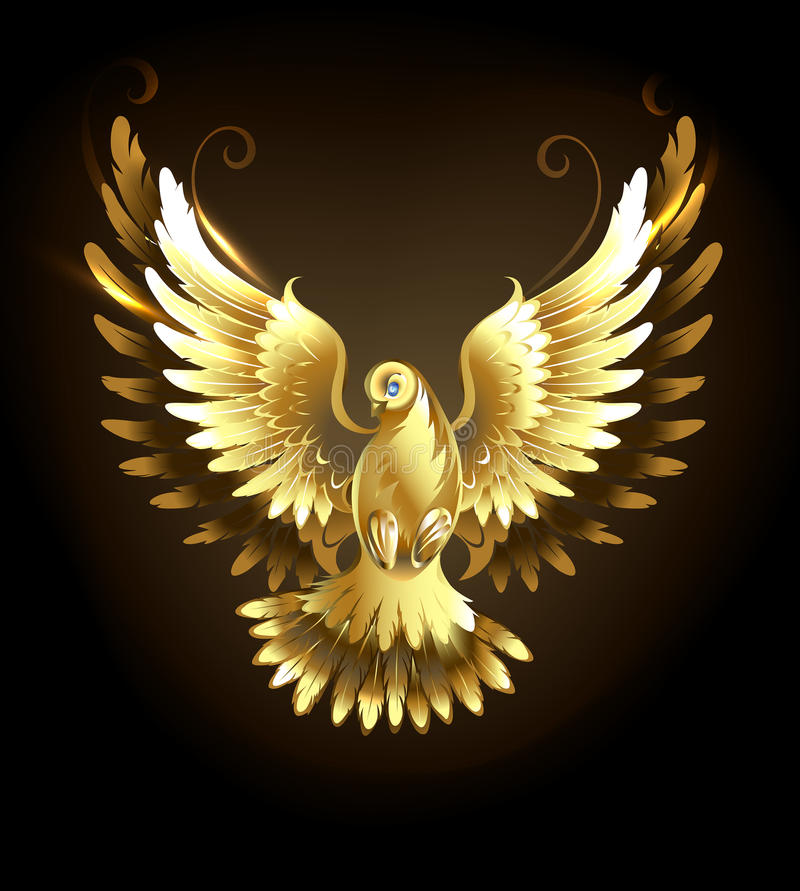 Gold dove royalty free illustration