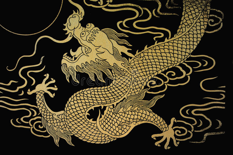 Gold Dragon royalty free illustration