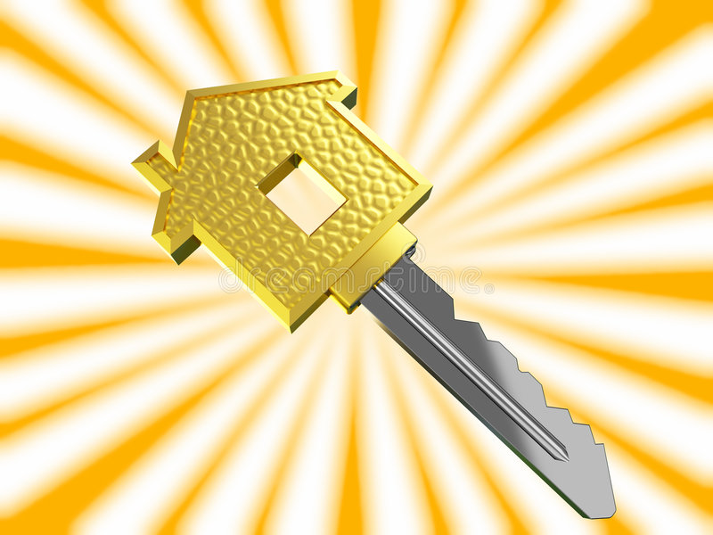 Download Gold Dream House Key Stock Images - Image: 5437664