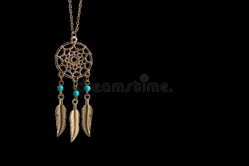 Gold Dreamcatcher. stock images