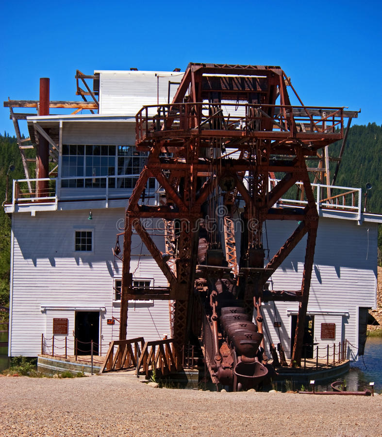 Gold Dredge. In the town of SUmpter in Northeastern Oregon stock images