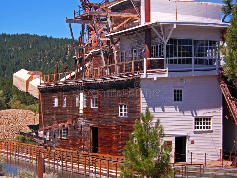 Gold Dredge. In the town of SUmpter in Northeastern Oregon royalty free stock images