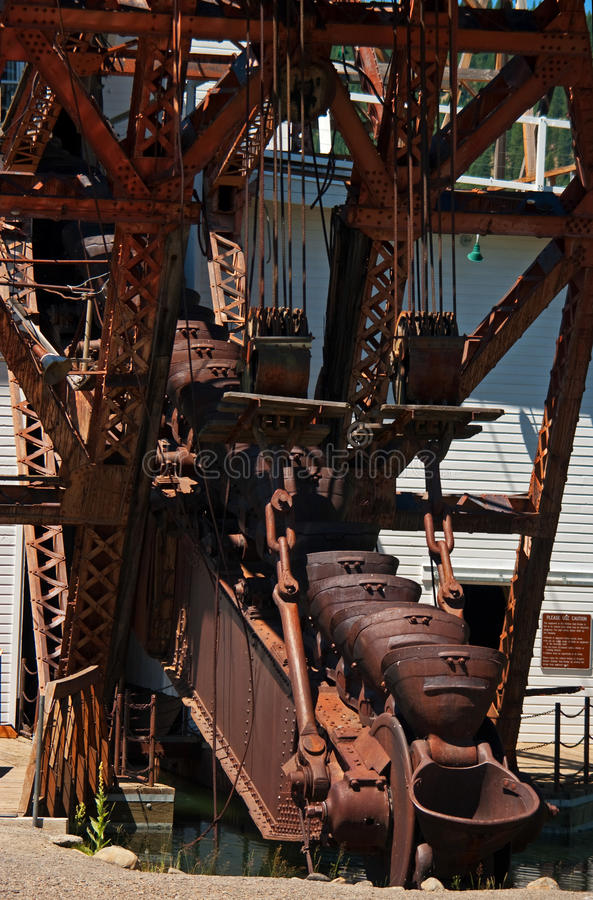 Gold Dredge. In the town of SUmpter in Northeastern Oregon stock photography