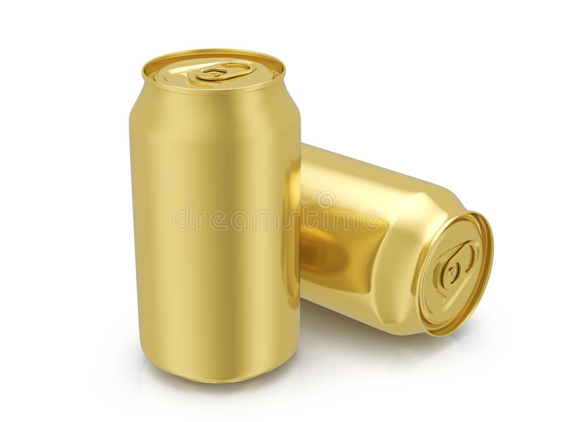 Download Gold drink cans stock illustration. Image of canned, alcohol - 83708748
