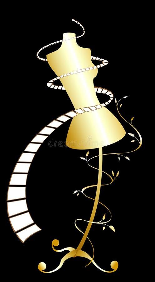 Gold dummy stock illustration