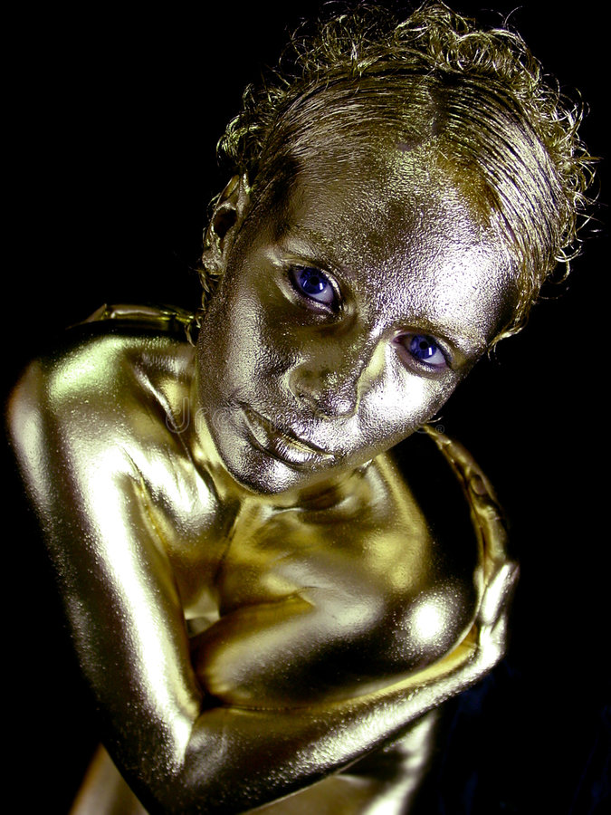Free Gold Dust Woman Royalty Free Stock Image - 478766