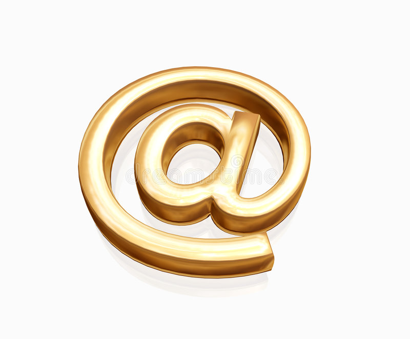 Gold e-mail royalty free illustration