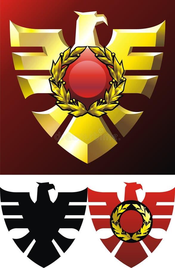 Gold eagle vector illustration