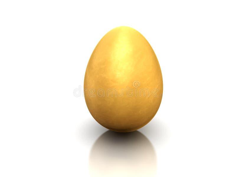Gold egg. The image of brilliant gold egg on a white background stock illustration