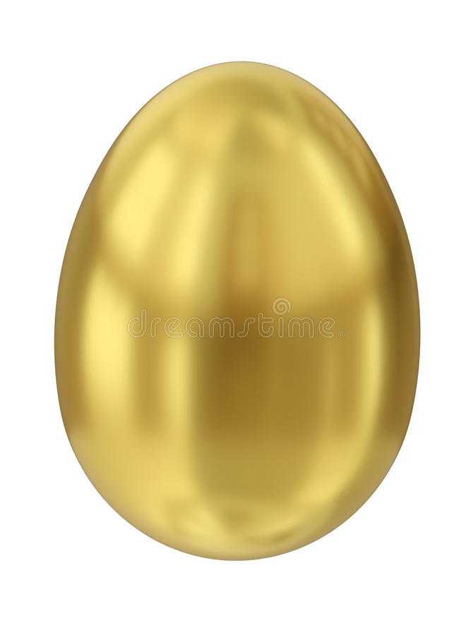 Gold egg. Isolated against a white background. 3D render vector illustration