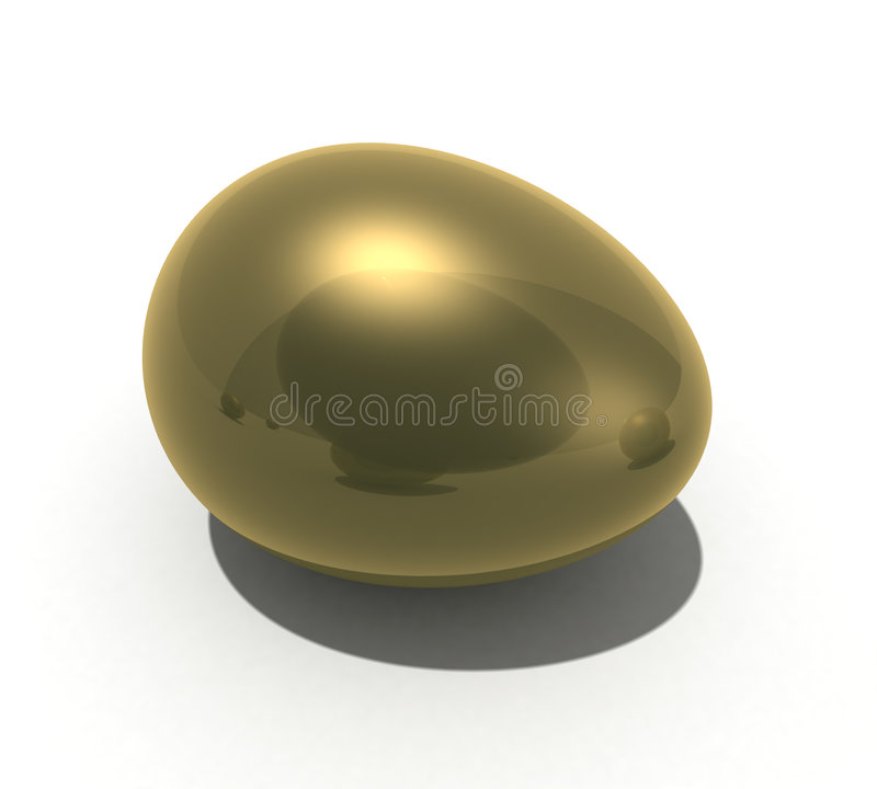Gold egg stock photography