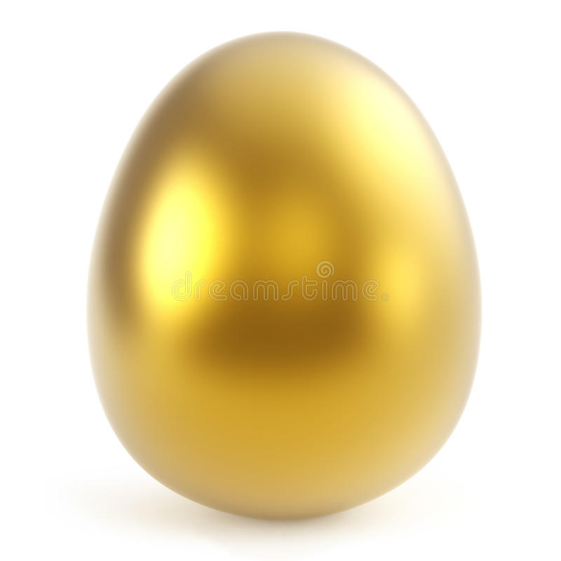 Gold egg. 3D illustration isolated on white background royalty free illustration