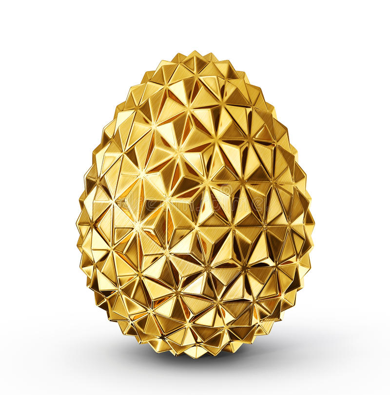 Gold egg vector illustration
