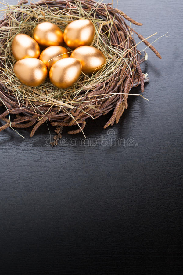 Download Gold Eggs stock image. Image of color, nest, concepts - 39500663