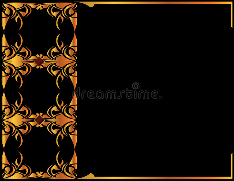Gold elegant background 2 vector illustration