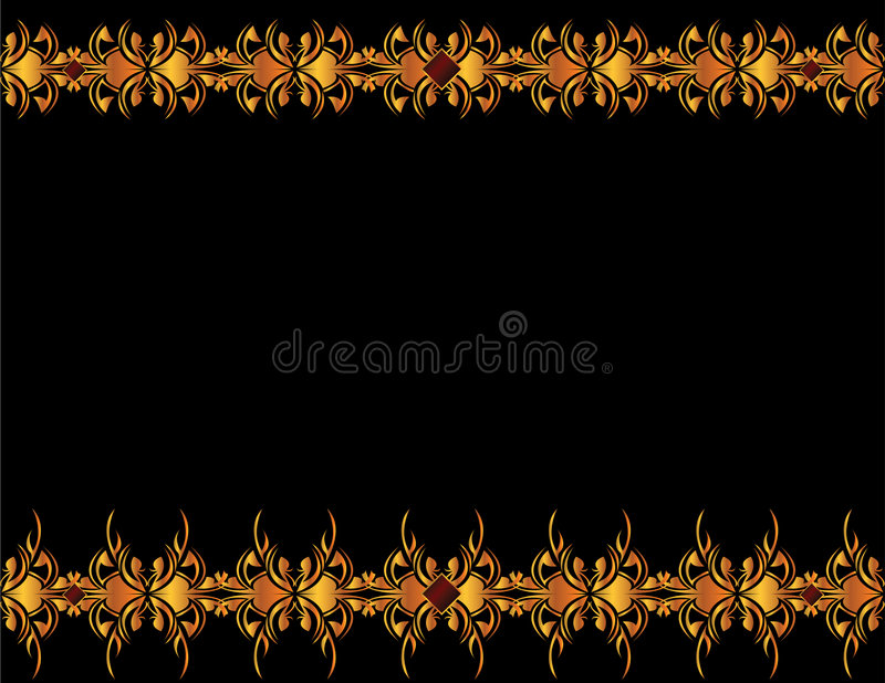 Gold elegant background 4 stock illustration