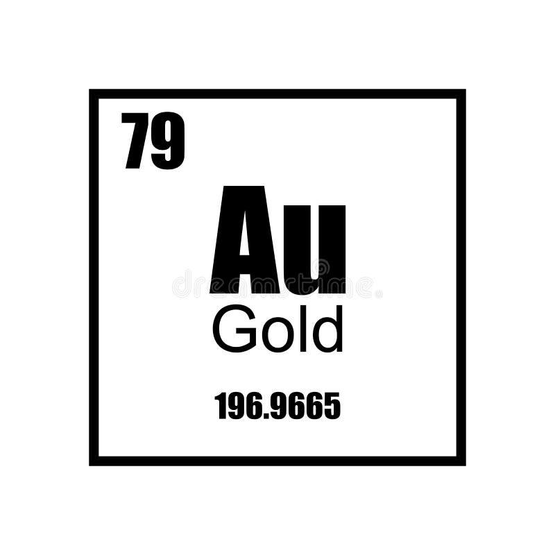 Gold element Periodic table stock illustration
