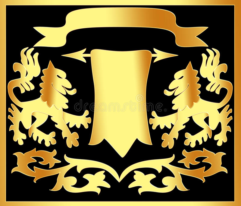Download Gold(en) Ornament With Papyrus Stock Illustration - Image: 12384251