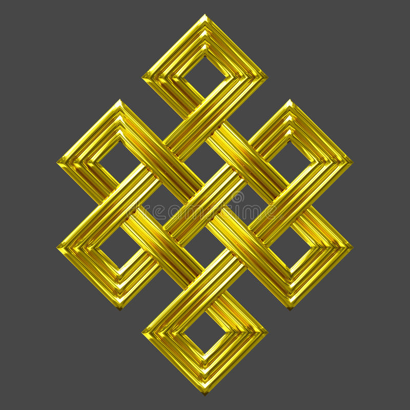 Gold Eternal Knot Charm Symbol Stock Image Image Of Image Emboss