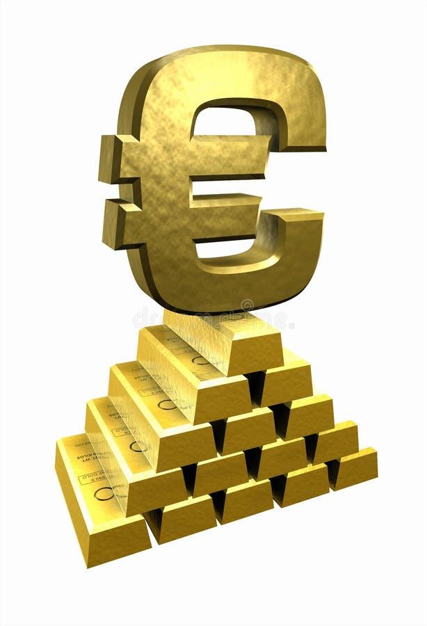Gold_Euro fotografering för bildbyråer